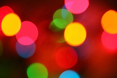 Party lights. Abstract image of blurred party lights stock photo