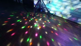 Party lights disco ball stock video