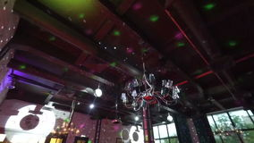 Party lights disco ball stock video footage