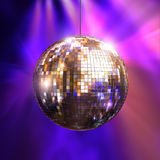 Party lights with disco ball. Party lights disco ball, 3d illustration Stock Image