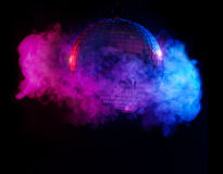 Party lights disco ball Stock Image