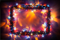 Party lights frame Stock Image