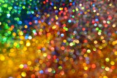 Party Lights Glitter and Stars Background. Party Lights Frozen Snow Winter Sparkling Stars Glitter background. Holiday, Christmas, New Year abstract texture stock image