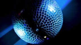 Party lights mirror disco ball. stock video
