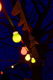 Party lights at night Royalty Free Stock Images