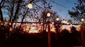 Party lights at sunset Royalty Free Stock Photography