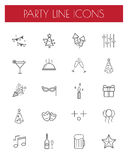 Party line icon set.vector illustration. Stock Photo