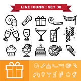 Party line icons set 38 Stock Images