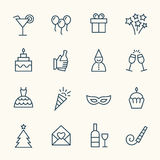 Party line icons Royalty Free Stock Photography
