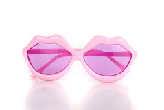 Party lips shaped glasses Royalty Free Stock Images