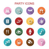 Party long shadow icons Stock Photo