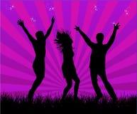Party a los bailarines ilustración del vector