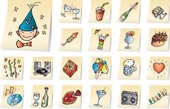 Party los iconos Fotografía de archivo libre de regalías