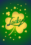 Party Lucky Poster, Saint Patrick's Day Typographical Background Royalty Free Stock Photo