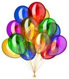 Party lustroso colorido festivo da decoração do feliz aniversario do balão Ilustração do Vetor