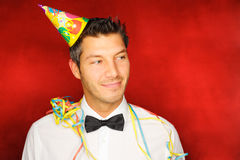 Party man stock photo