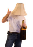 Party Man. A man partying with a giant bottle Stock Photo