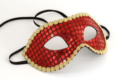 Party mask. Red carnival, masquerade or general party mask Royalty Free Stock Images