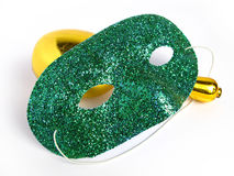 Free Party Mask And A Maraca Stock Photography - 4661252