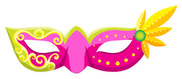 Party mask in pink color royalty free illustration