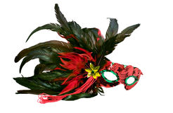 Party masks. Isolated shot of a brightly colored masquerade or mardi gras mask Royalty Free Stock Photography