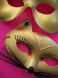 Party Masks 2. A pair of golden party masks royalty free stock photography
