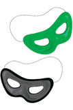 Party masks. Who dat? green black Royalty Free Stock Photography