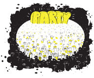 Party Mass Event. Illustration is in eps8 mode stock illustration