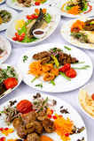 Party meals on  table Stock Photo