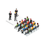 Party Meeting Isometric Design Concept Stock Photo