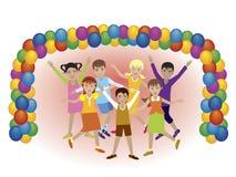 Party mit Freunden Lizenzfreie Stockbilder