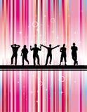 Party mit rosafarbenem Hintergrund Lizenzfreie Stockfotografie