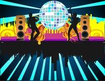 Party mit Tanzenvölkern Stockfotos