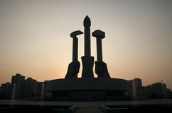 Party Monument DPRK Stock Photography