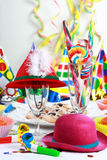Party motive. Party accessories for New Year Eve, birthday party or carnival Stock Photo