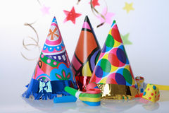 Party motive. Party accessories for New Year Eve, birthday party or carnival Royalty Free Stock Photo