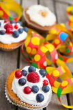Party muffins Royalty Free Stock Images