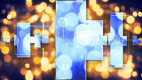 Party music equalizer and bokeh lights Stock Image