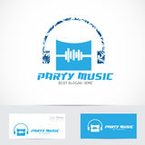 Party music logo Royalty Free Stock Images