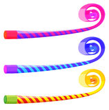 Party musical straw in many colors Stock Images