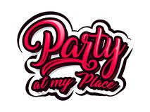 Party at my Place Royalty Free Illustration