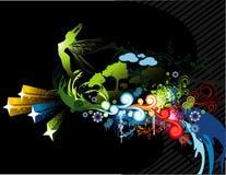 Party natural vector. Abstract natural floral vector illustration Royalty Free Stock Photos
