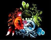 Party natural vector. Abstract natural floral vector illustration Vector Illustration