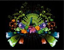 Party natural vector. Abstract natural floral vector illustration Stock Photo