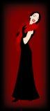 Party in nero e nel colore rosso royalty illustrazione gratis