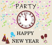Party new year celebration vector illustration