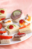 party nibbles on a white plate Royalty Free Stock Photography