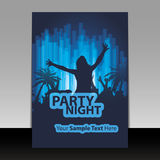 Party Time - Flyer or Cover Design Royalty Free Stock Photos
