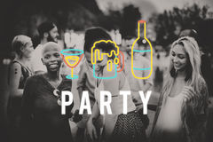 Party Night Life Fun Enjoy Concept Royalty Free Stock Photography