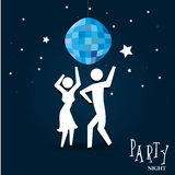 Party night. Over sky night background vector illustration Royalty Free Stock Photos